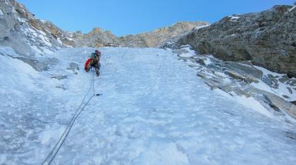 Bas van der Ploeg op de Croz Spur (niet gelukt, in 2012)